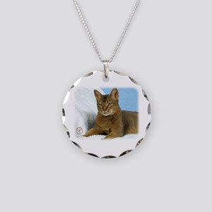 Abyssinian Cat 9Y009D-020 Necklace Circle Charm