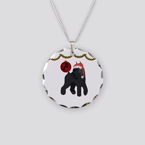 giant schnauzer Christmas Necklace Circle Charm