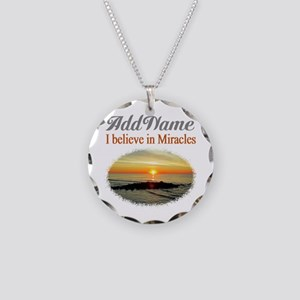 BELIEVE MIRACLES Necklace Circle Charm