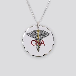 CNA Medical Symbol Necklace Circle Charm