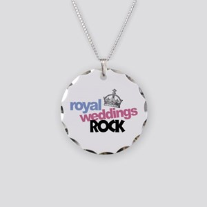 Royal Weddings Rock Necklace Circle Charm