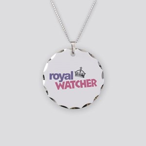Royal Watcher Necklace Circle Charm