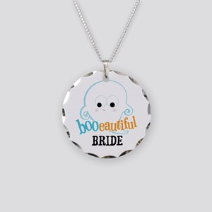 Booeautiful Bride Necklace Circle Charm