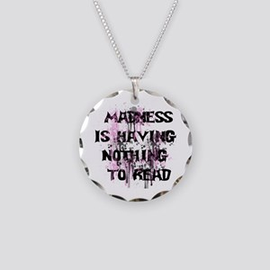 Reading Madness Necklace Circle Charm