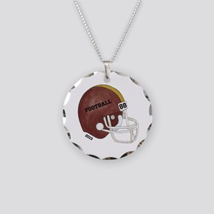 Football Helmet Necklace Circle Charm
