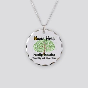 Customizable Family Reunion Necklace Circle Charm