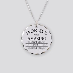 World's Most Amazing P.E. Te Necklace Circle Charm
