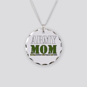 Army Mom Prayers Necklace