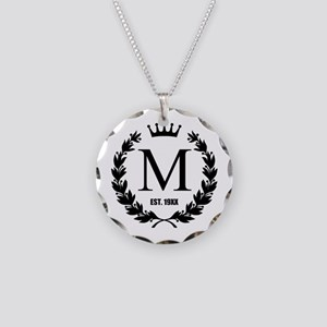Custom Initial Logo Monogrammed Necklace