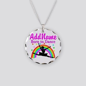BORN DANCING Necklace Circle Charm