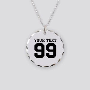 Custom Sports Jersey Number Necklace Circle Charm