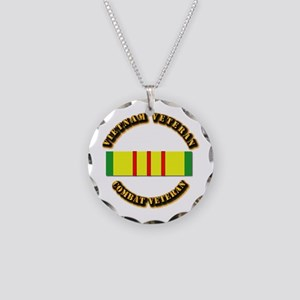 Vietnam Veteran - Service Me Necklace Circle Charm