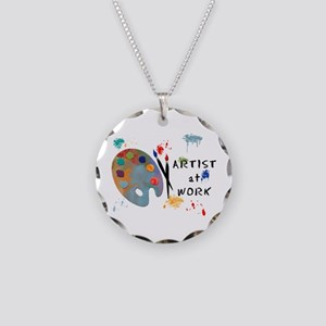 Artist At Work Necklace Circle Charm