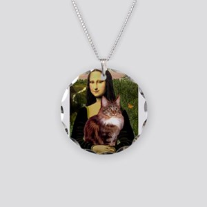 Mona's Maine Coon Necklace Circle Charm