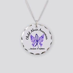 Child Abuse Butterfly 6.1 Necklace Circle Charm