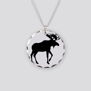 Park City Souvenir Moose Necklace Circle Charm