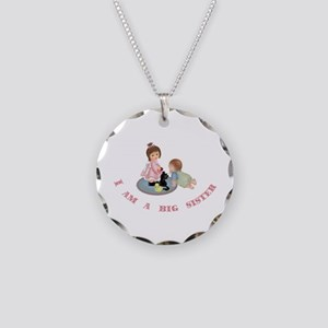 Big Sister Necklace Circle Charm