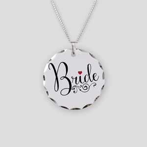 Elegant Bride Necklace Circle Charm