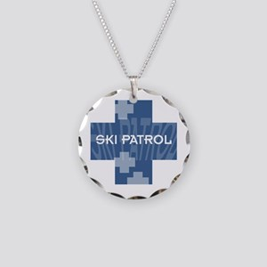 Ski Patrol Necklace Circle Charm