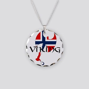 Norway Viking Necklace Circle Charm
