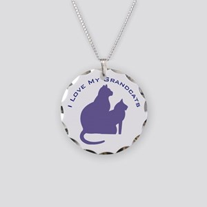 I Love My Grandcats 111 Necklace Circle Charm