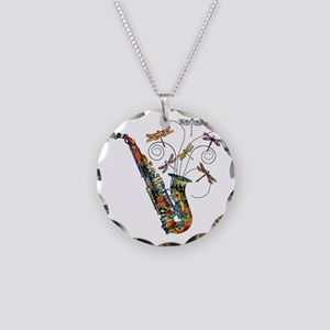 wild Saxophone Necklace Circle Charm