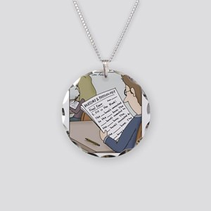 Anatomy Test Necklace Circle Charm