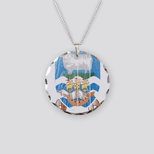 Falkland Islands Coat Of Arms Necklace Circle Char