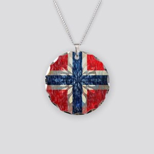 Norwegian winter Necklace Circle Charm