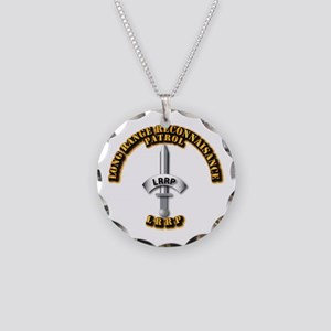 Army - Badge - LRRP Necklace Circle Charm