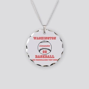 Baseball Personalized Necklace Circle Charm