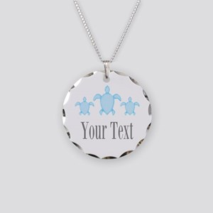 Sea Turtle Ocean Blue Name Necklace