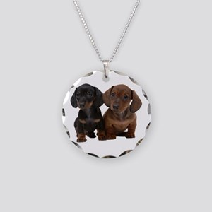 Dachshunds Necklace Circle Charm