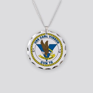 Carl Vinson Patch Only Necklace Circle Charm
