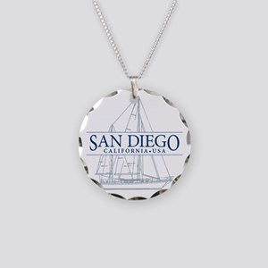 San Diego - Necklace Circle Charm