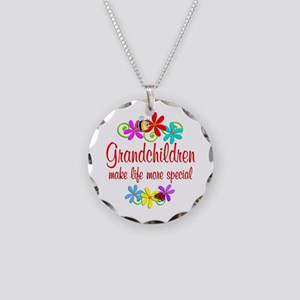 Special Grandchildren Necklace Circle Charm