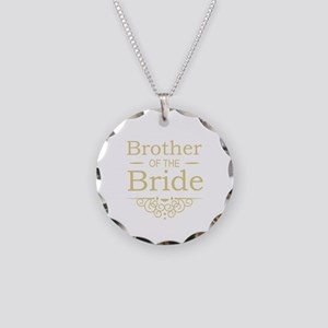 Brother of the Bride gold Necklace Circle Charm
