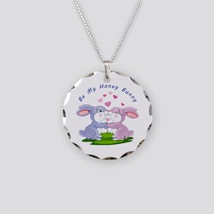 Honey Bunny- Necklace Circle Charm