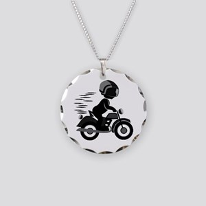 Bike Ride - Necklace Circle Charm