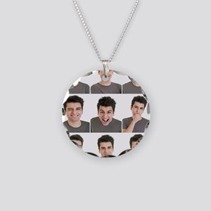 Man face expressions Necklace Circle Charm