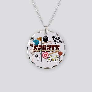 Sports Collage Necklace Circle Charm