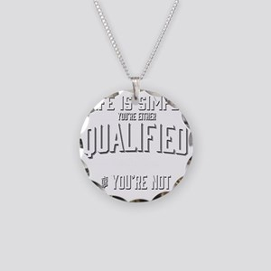 Life is Simple: Youre Either Necklace Circle Charm