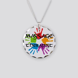 Massage Therapist Necklace Circle Charm