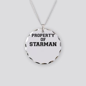 Property of STARMAN Necklace Circle Charm