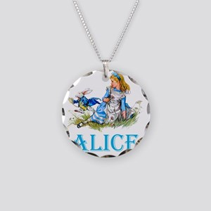 ALICE_BLUE copy Necklace Circle Charm