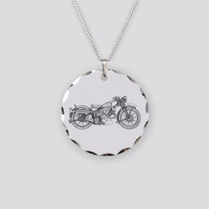1935 Motorcycle Necklace Circle Charm
