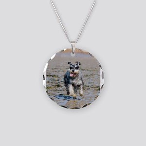 miniature schnauzer running Necklace