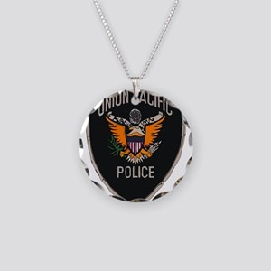 Union Pacific Police patch Necklace Circle Charm