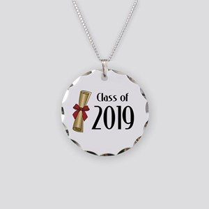 Class of 2019 Diploma Necklace Circle Charm