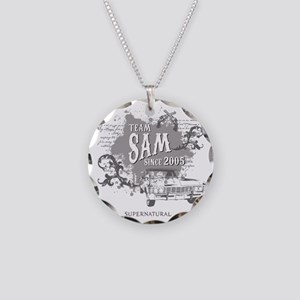 SUPERNATURAL Team Sam Necklace Circle Charm